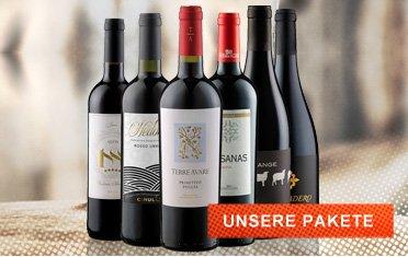 Wein Pakete, Probierpakete, Wein im Angebot
